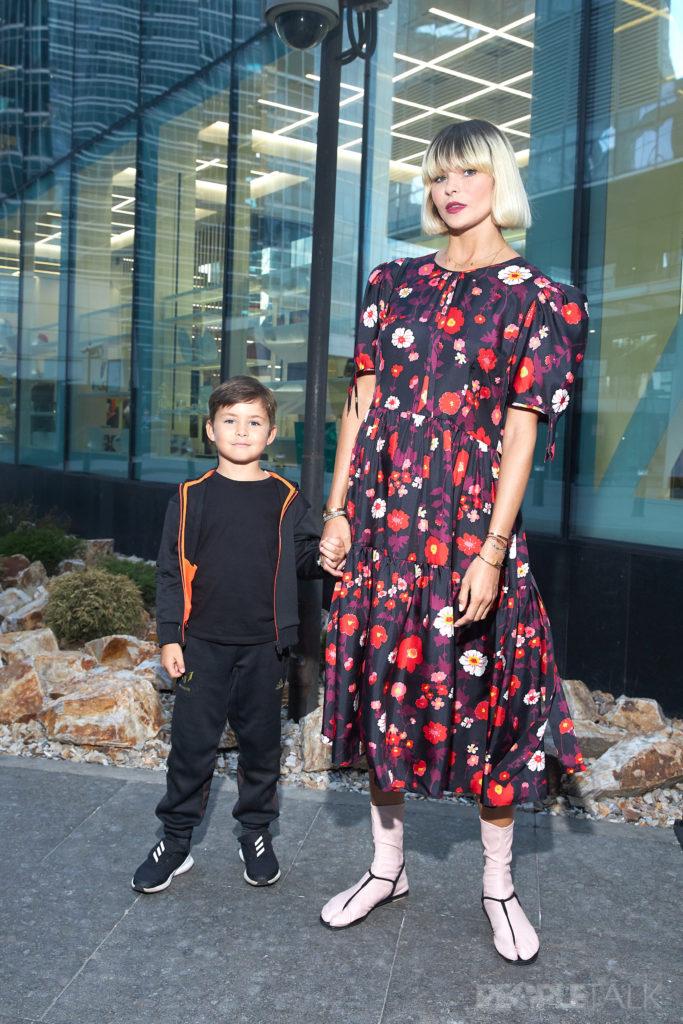 Инга Берман с сыном