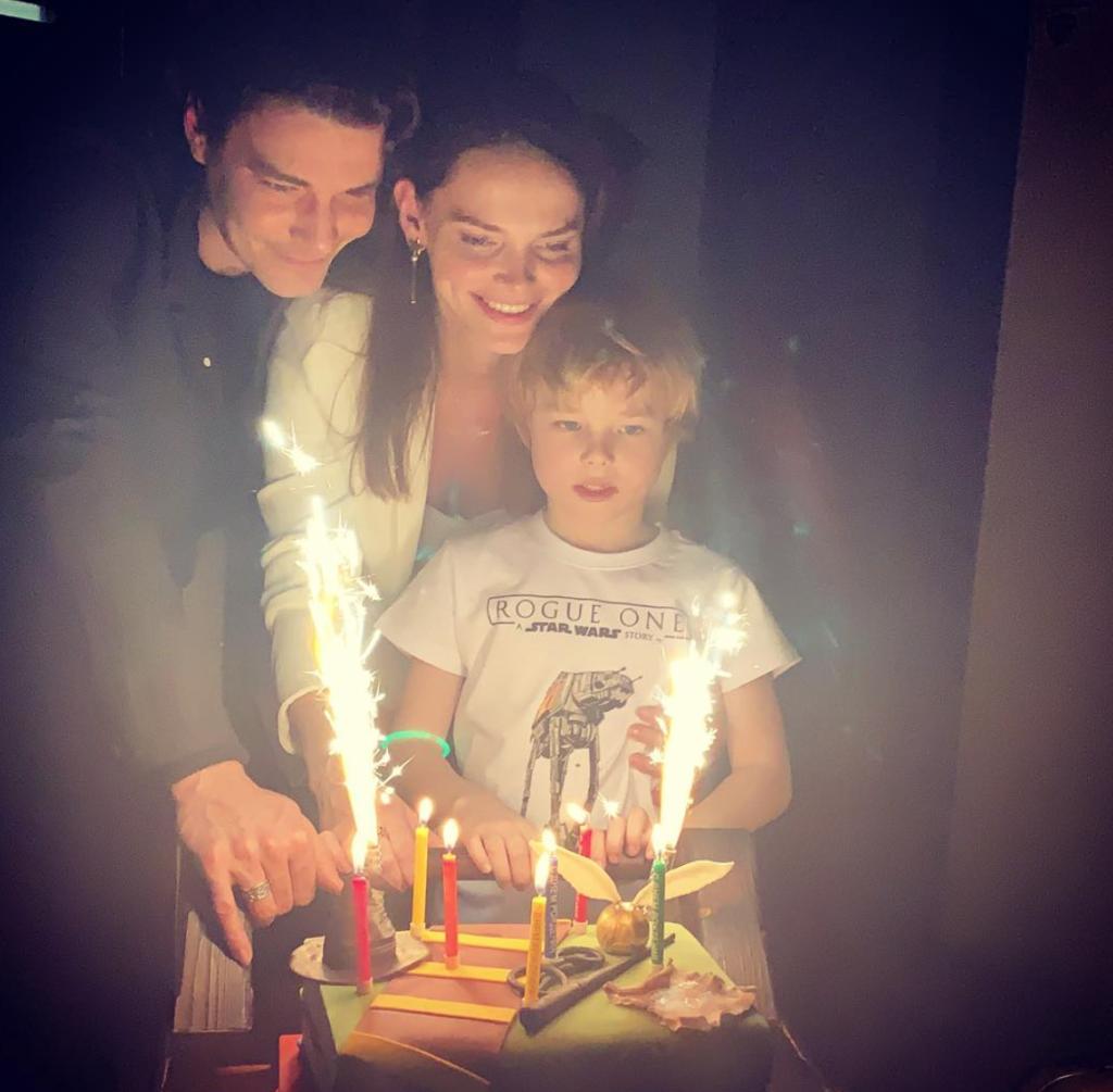 Елизавета Боярская и Максим Матвеев с сыном Андреем. Фото: @lizavetabo