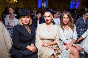 Мария Кожевникова, Юлия Ковальчук и Жанна Левина-Мартиросян на показе свадебных платьев Humariff
