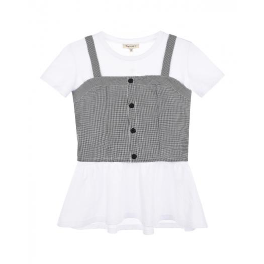 TWIN SET, Комплект из футболки и топа, 5 599 р. (30%, 7 999 р.)