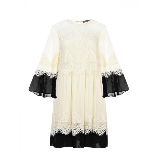 Twin Set, Платье из вискозы с кружевными вставками, 18 899 р. (30%, было: 26 999 р.)