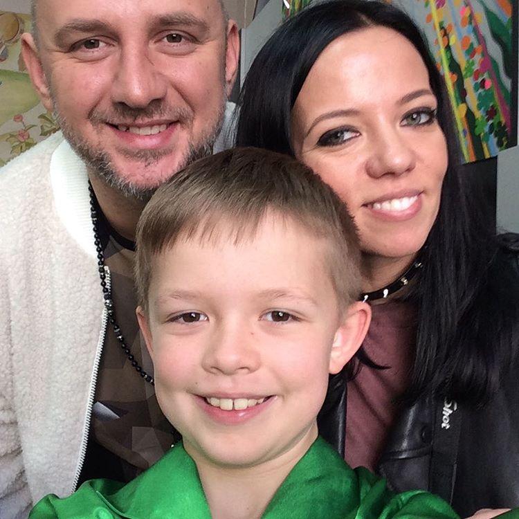 Потап и Ирина Горовая с сыном