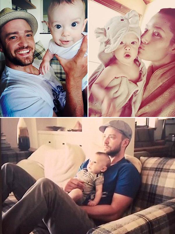 Джастин Тимберлейк с сыном Сайласом