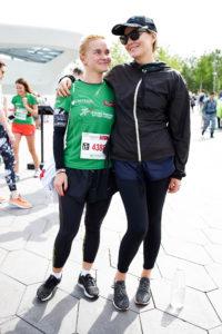 Наталья Водянова, Полина Киценко и Рената Литвинова на благотворительном Зеленом марафоне «Бегущие сердца»