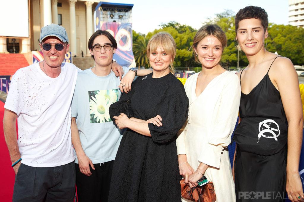 Игорь Верник, Анна Михалкова с сыном Андреем, Надежда Михалкова и Ирина Горбачева