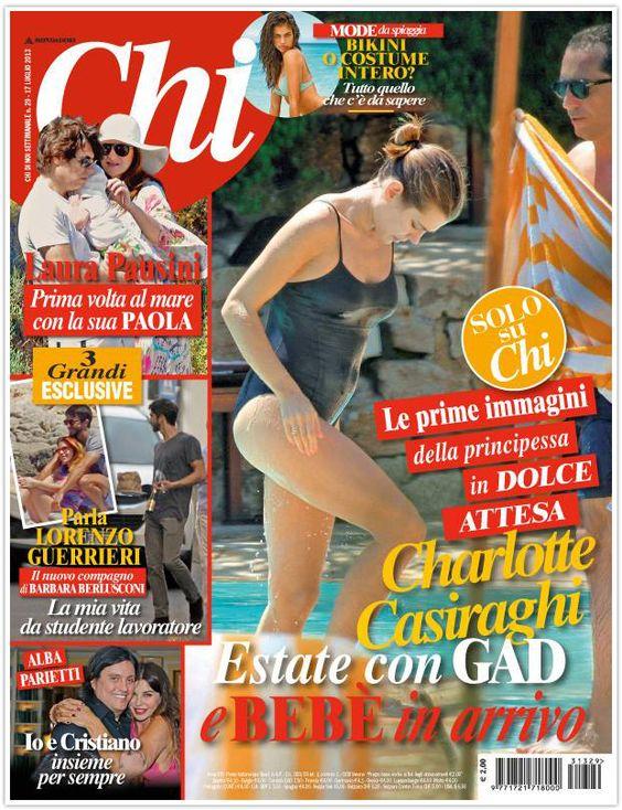 Обложка итальянского журнала CHI с беременной Шарлоттой Казираги