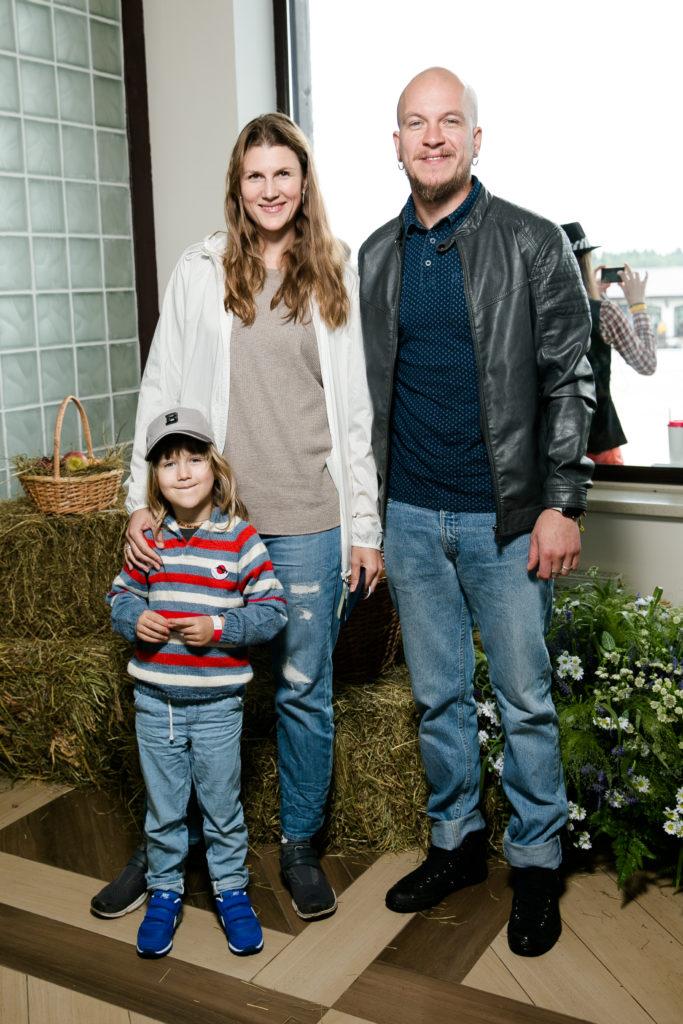 Марьяна Спивак с мужем и сыном