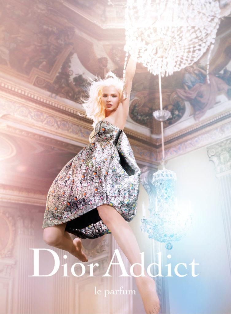 Саша Лусс в рекламной кампании Dior Addict