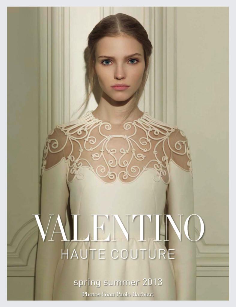 Саша Лусс в рекламной кампании Valentino