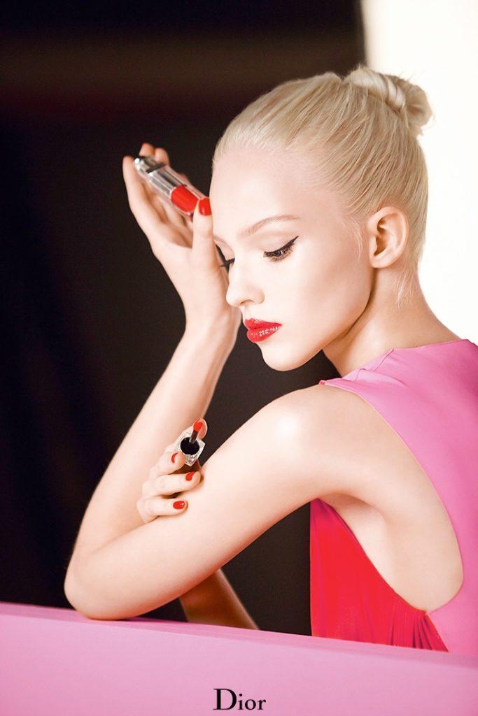 Саша Лусс в рекламной кампании Dior Beauty