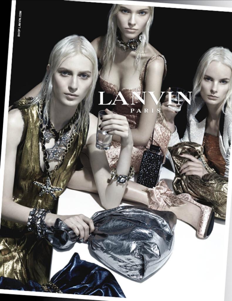 Саша Лусс в рекламной кампании Lanvin