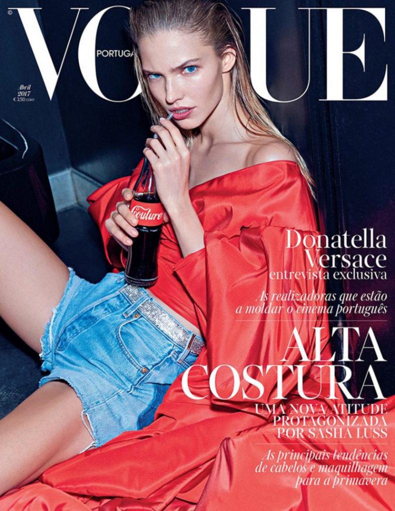 Саша Лусс на обложке Vogue Portugal