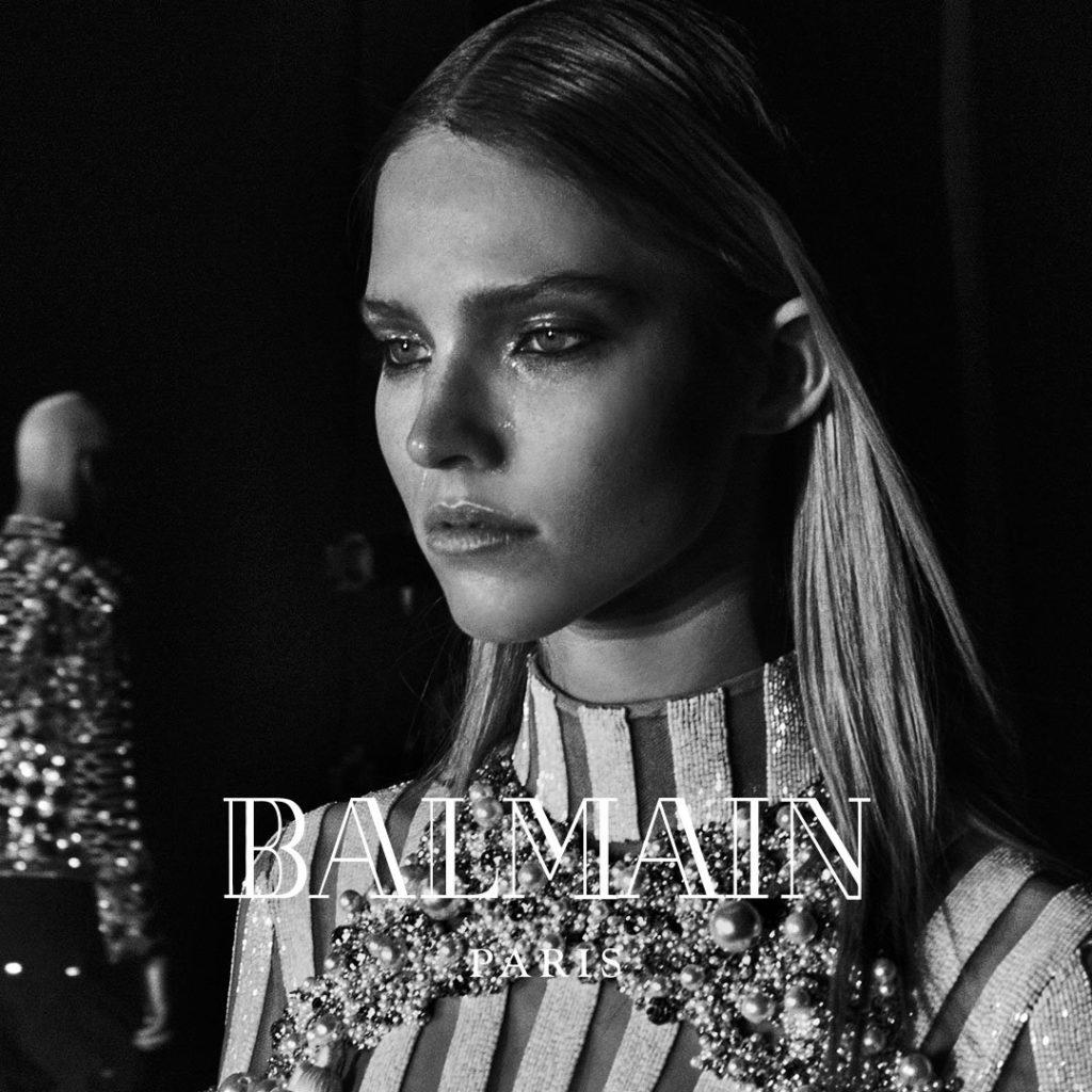 Саша Лусс в рекламной кампании Balmain, 2016