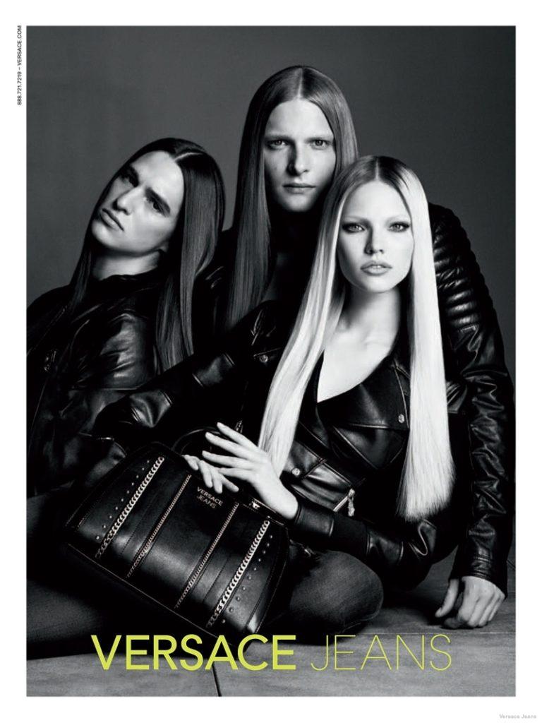 Саша Лусс в рекламной кампании Versace