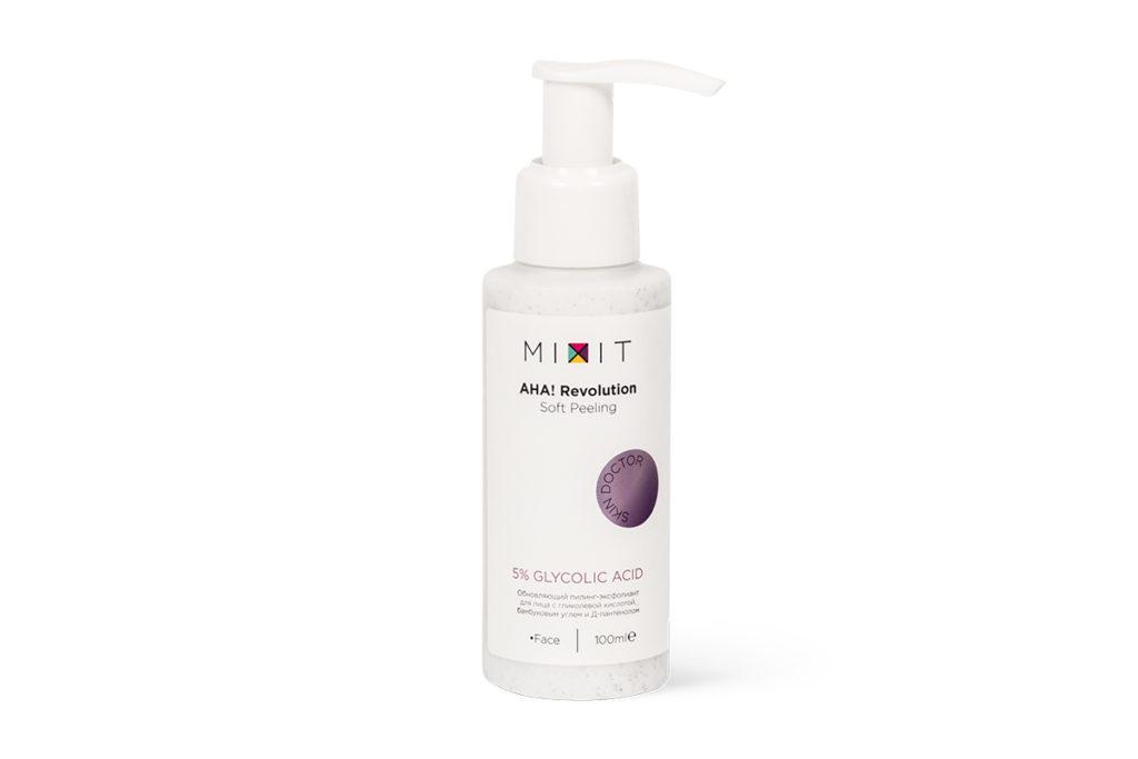 Пилинг-эксфолиант с гликолевой кислотой Mixi отлично обновляет кожу и стирает пигментные пятна