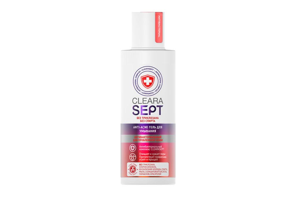 Anti-acne гель для умывания антибактериальныйдля проблемной кожи ClearaSept идеально очищает кожу