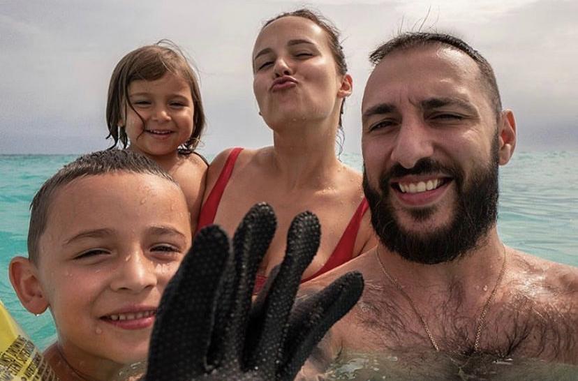 Леван и Анна Горозия с детьми