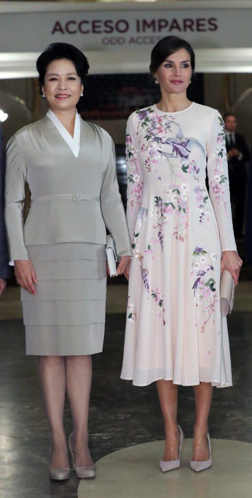 Пэн Лиюань и королева Летиция