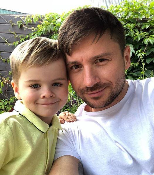 Сергей Лазарев с сыном Никитой