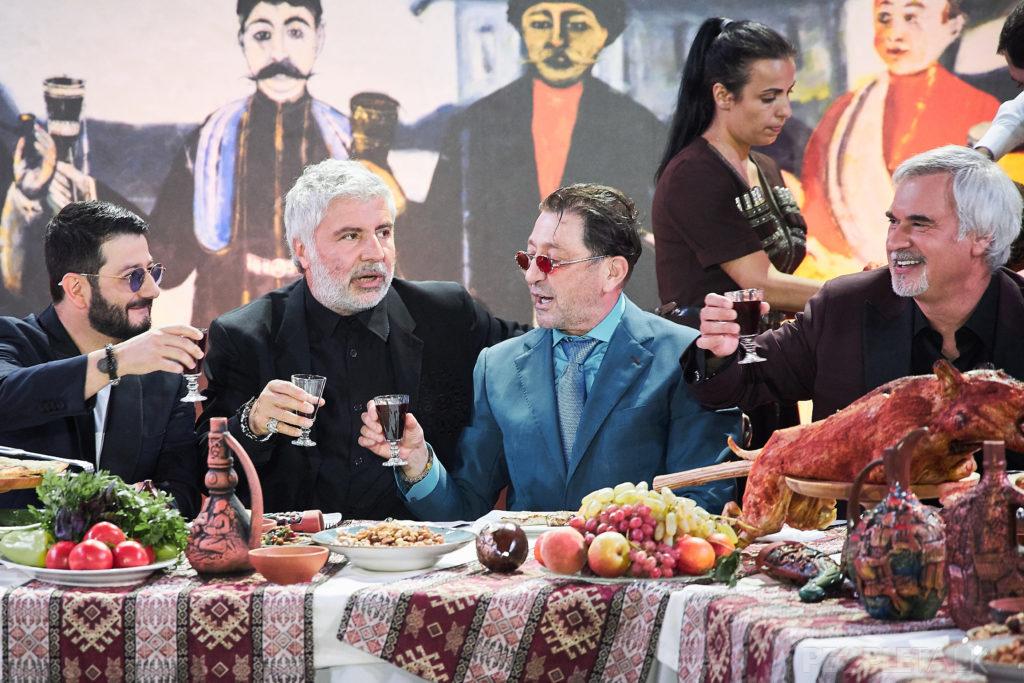 Михаил Галустян,Сосо Павлиащвили, Григорий Лепс и Валерий Меладзе