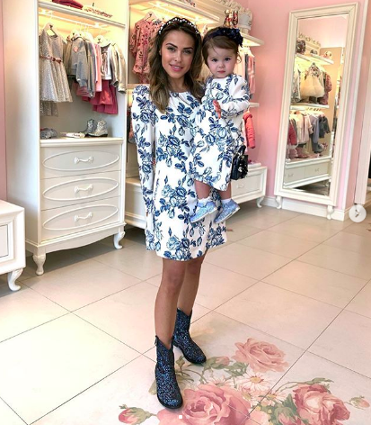 Галина Ржаксенская с дочерью Лизой (Фото: @senoritagalo)