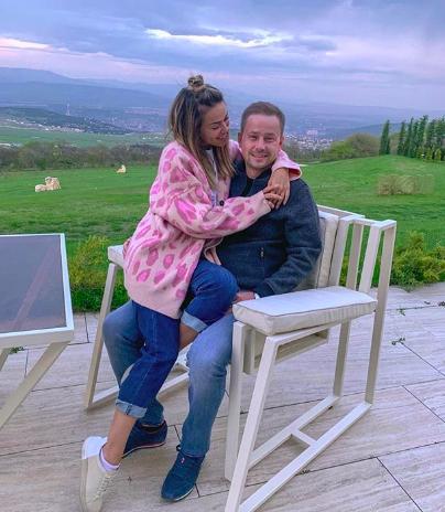 Галина Ржаксенская с супругом Евгением Громовым (Фото: @senoritagalo)