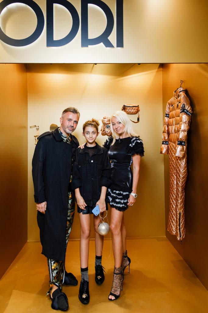Александр Сирадекиан с дочерью и Яна Рудковская