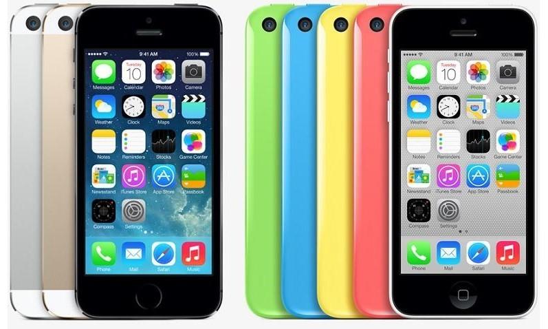 2013: iPhone 5s, 5c