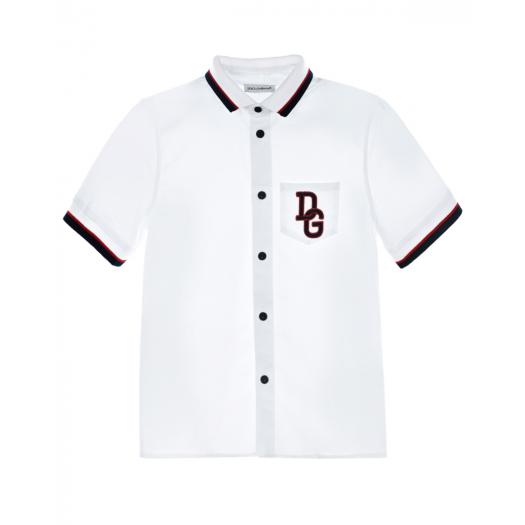 DOLCE&GABBANA, Рубашка с трикотажным воротником ( 14 999 р.)