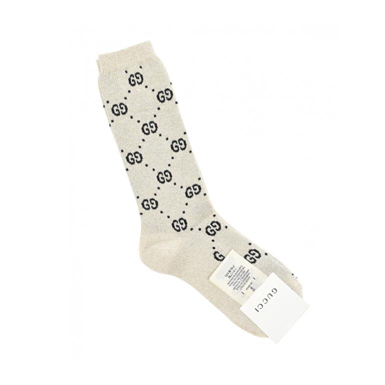 GUCCI, Кремовые носки с люрексом (3 999 р.)