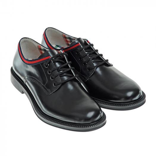 GUCCI, Кожаные ботинки на шнуровке (21 999 р.)
