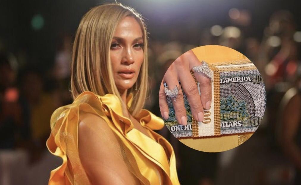 Мы оценили: Дженнифер Лопес с бриллиантовым клатчем на премьере. Сколько стоит такой?