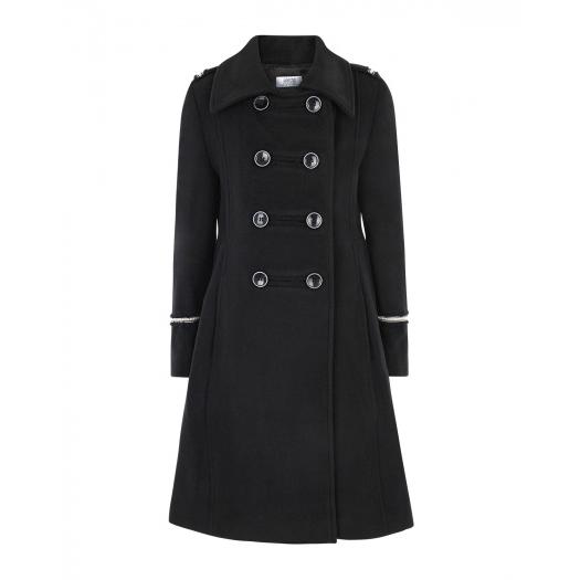 ALETTA, Двубортное приталенное пальто с декоративной тесьмой (33 000 р.)
