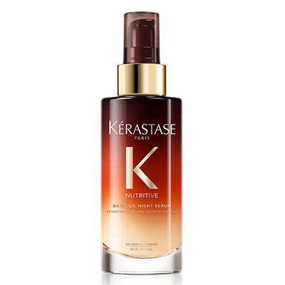 Ночная сыворотка Kerastase, 3990 р. Наноси на ночь и утром получишь гладкие блестящие волосы. Для большего эффекта, добавь пару капель в свою маску - масло увлажнит и восстановит.