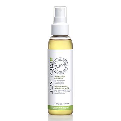 Восстанавливающее масло-вуаль Biolage R.A.W. Replenish Oil-Mist, 1690 р. Наноси его на всю длину и не бойся, что волосы превратятся в сосульки – жирного блеска масло не оставляет. Добавляет волосам естественный блеск, делает их гладкими и облегчает расчесывание.