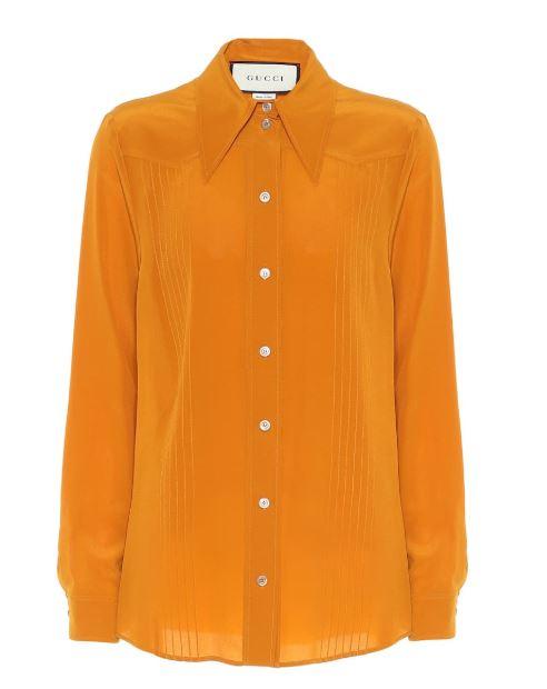 Если летом в моде был ярко-оранжевый, то осенью - оттенок ржавчины; Gucci, €755 (mytheresa.com)