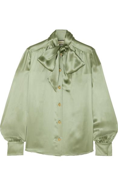 Гуакамоле - самый модный оттенок зеленого; Gucci, £875 (net-a-porter.com)