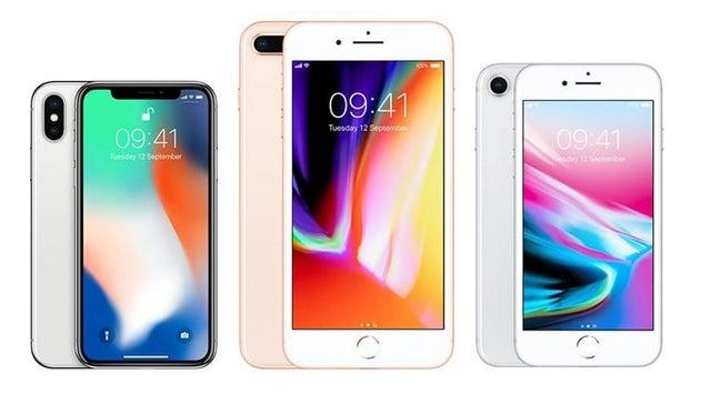 2017: iPhone X, 8 Plus, 8