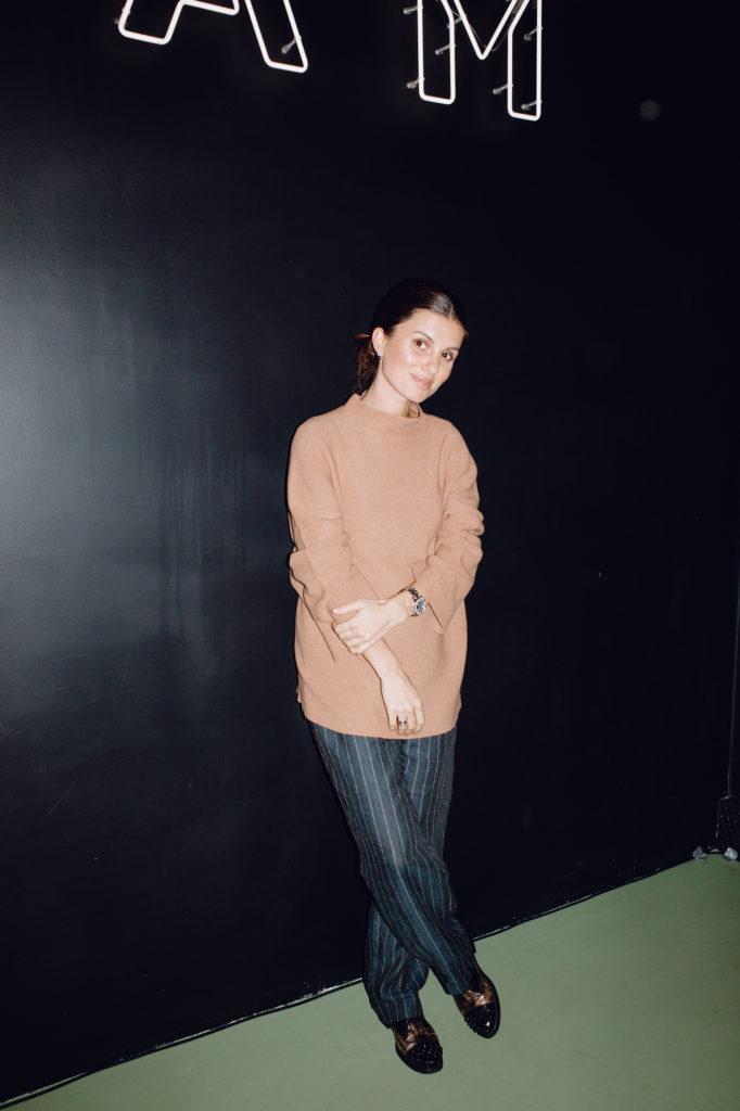 Анна Цуканова-Котт, Ингрид Олеринская и Лукерья Ильяшенко на открытии FOAM