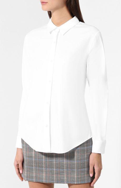 Ну и, конечно, белая рубашка. Такая в твоем гардеробе должна быть всегда; Theory, 21400 p. (tsum.ru)