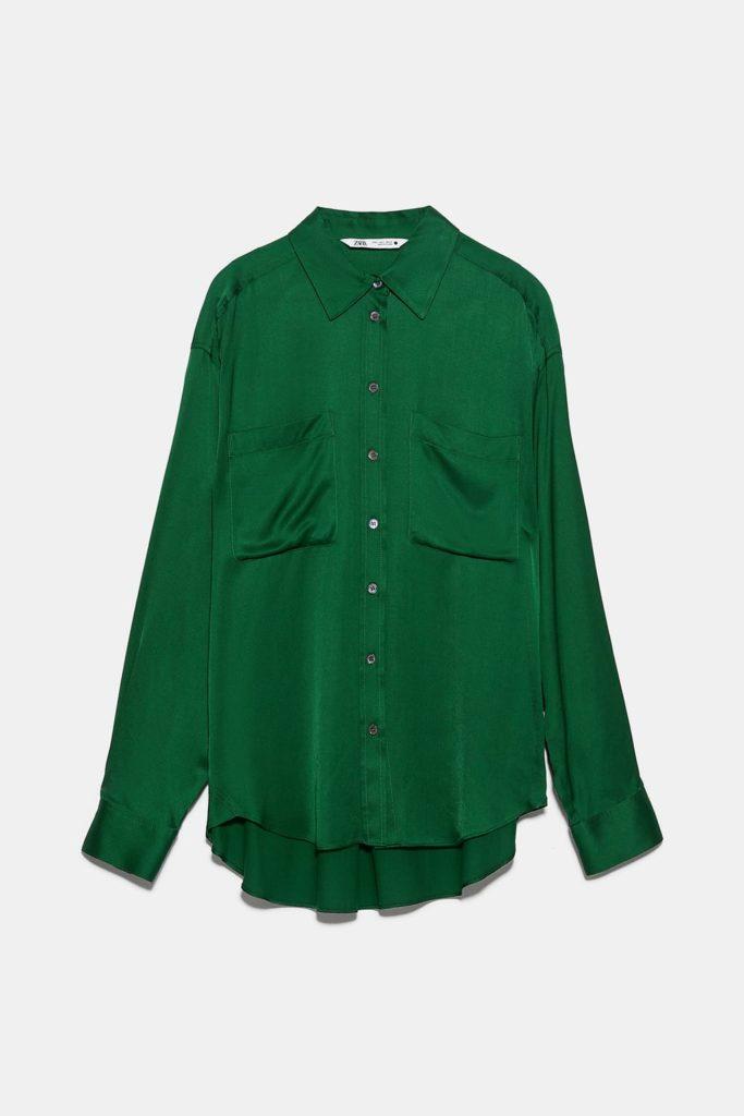 Но изумрудный тоже в тренде! Zara, 2999 р. (zara.com)