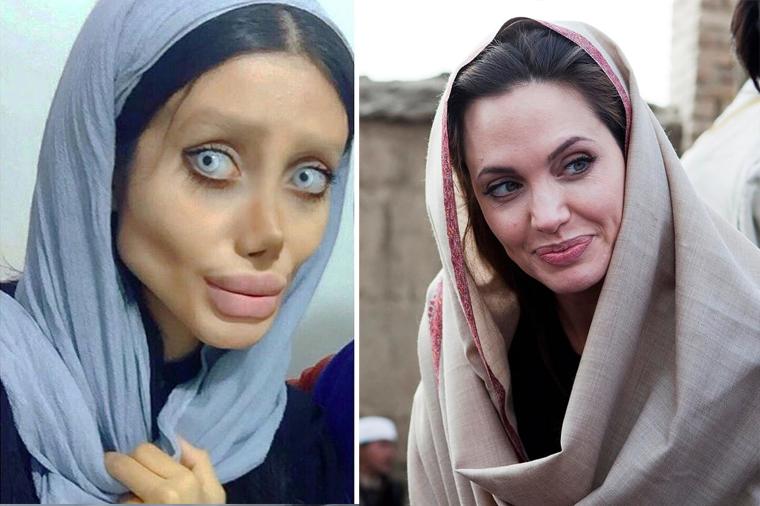 Шок: двойника Анджелины Джоли арестовали за пугающий внешний вид