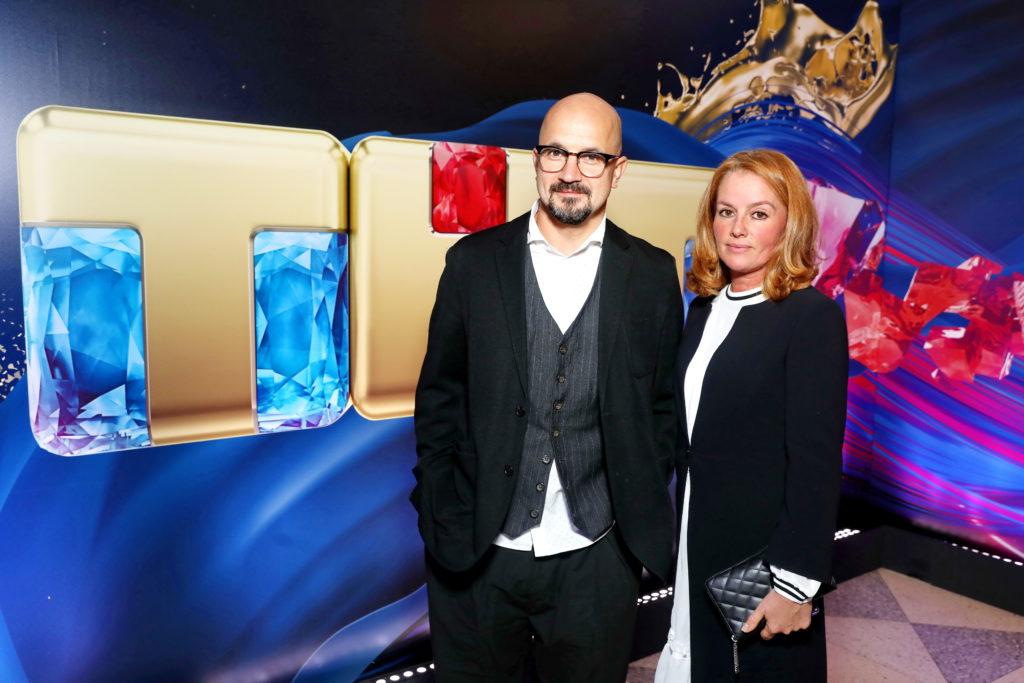 Дарья Мороз, Тимур Батрутдинов и Наталья Рудова на презентации нового сезона канала ТНТ
