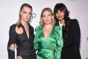 Кейт Хадсон, Кара Делевинь и Эшли Бенсон на церемонии вручения награды #GirlHero