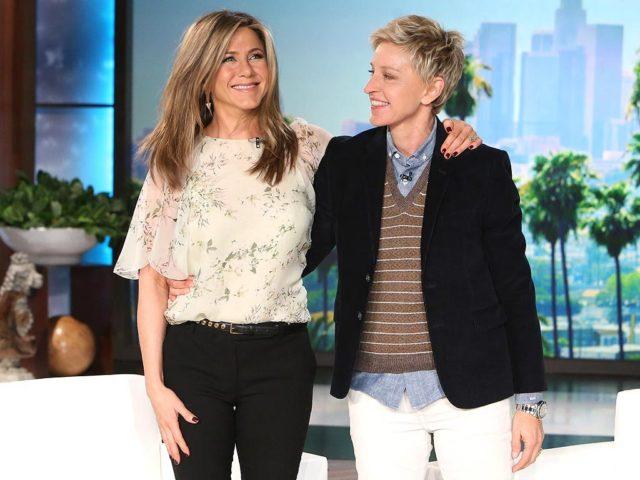 Дженнифер Энистон на шоу Эллен Дедженерес: о том, почему завела Instagram, и будет ли продолжение «Друзей»