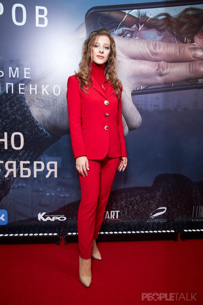 Александр Петров, Кристина Асмус и Ксения Собчак на премьере фильма «Текст»