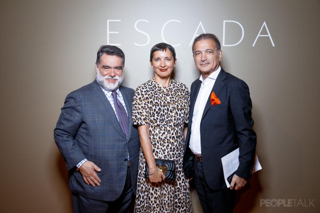 Рита Ора, Сати Казанова и Дарья Коновалова на открытии бутика Escada в Москве