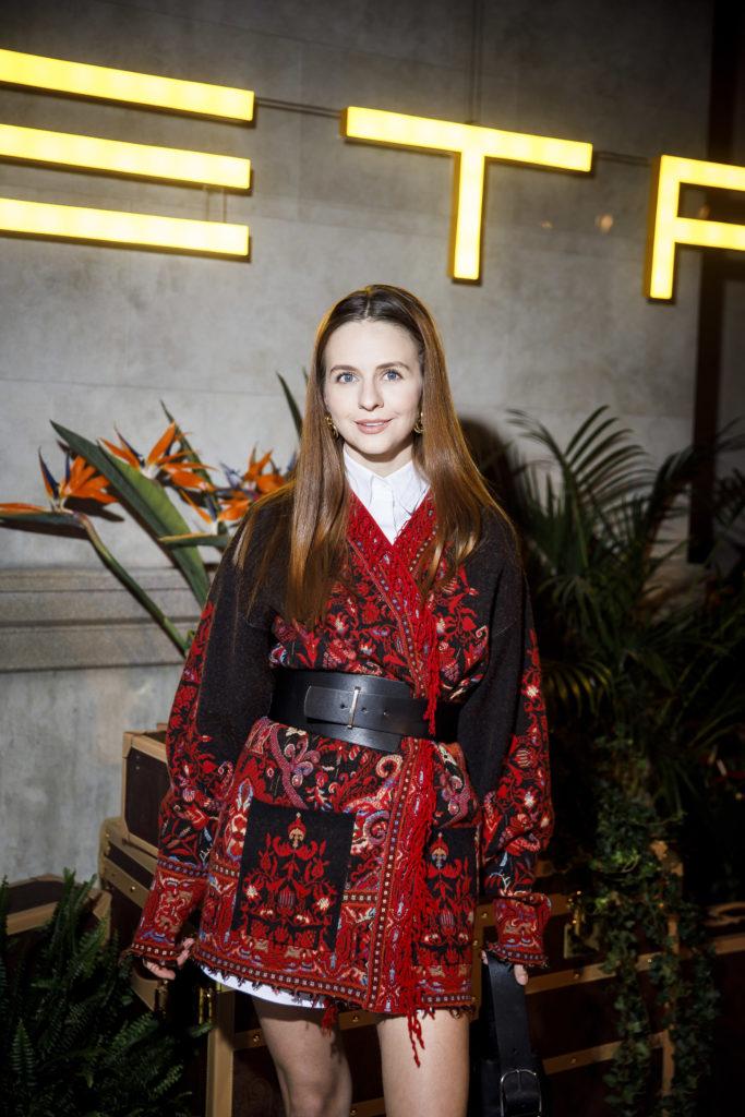 Ксения Собчак, Елена Летучая и Илья Бачурин на показе ETRO