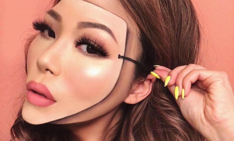 Королева мейкап-эпатажа Мими Чой: как разрезать лицо с помощью макияжа?