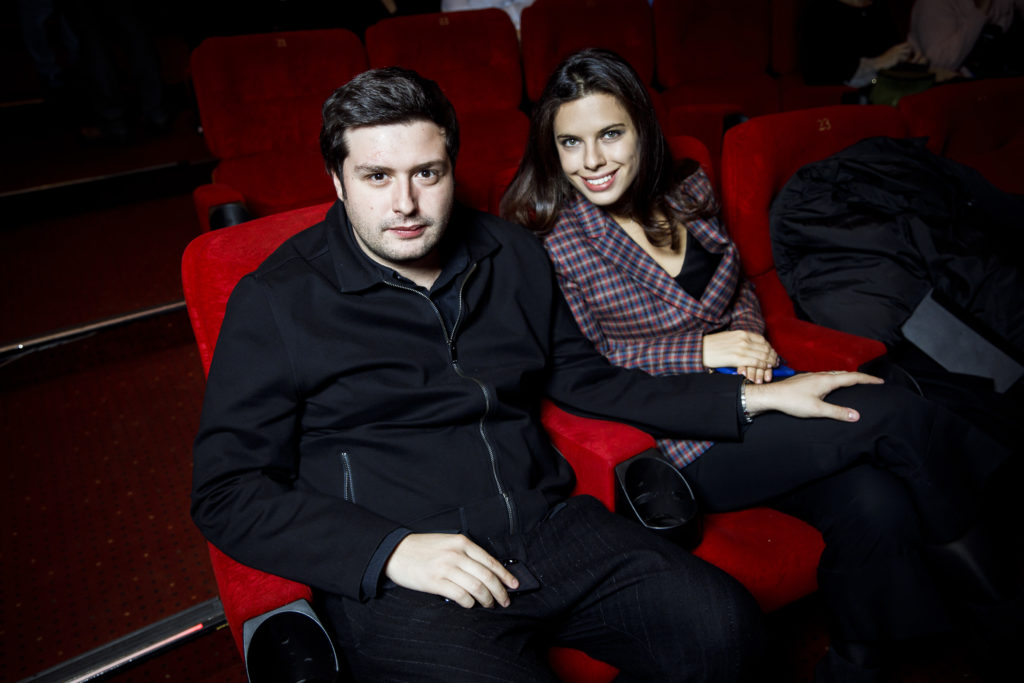 Евгения Брик, Кирилл Серебренников иВиктор Добронравов на премьере фильма «Француз»